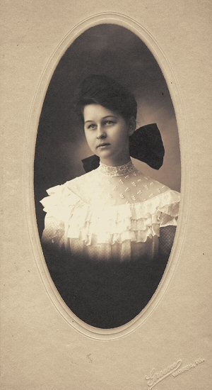 image: Levina as a young woman